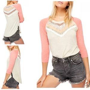 Free People | Spring Bound Crochet Top new xs